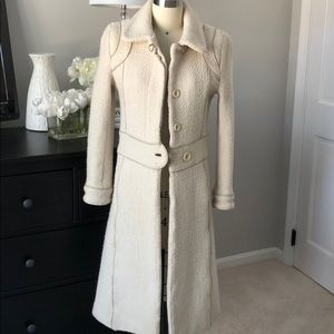 Mackage Ivory Tweed Coat